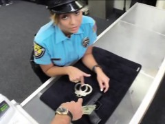 Attractive and seductive police woman gets hammered by Shawn