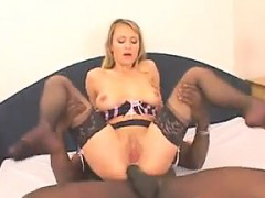 Blonde With A Big Black Cock In Her Dirty Ass