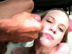 Amateur hoe gets pounded and facialized