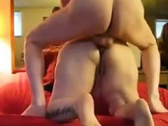 Chubby mature wife gets anal and creampied
