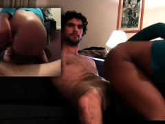 Shaven black pussy ridden by a white guy