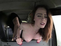 Skinny and sexy blonde gets fucked hard by a driver