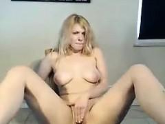 Blonde Smoker Masturbates