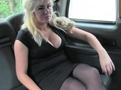 Busty blonde trades sex for the trip