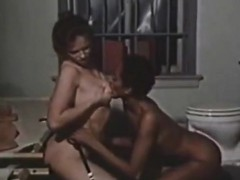 Outdated foreign lesbian porn movie