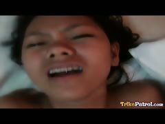 Slender Filipina teen with braces gets fucked savagely by