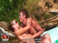 Couple having sex in the forest