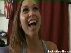 Riley loves cock so much she cheats on her guy to get more!