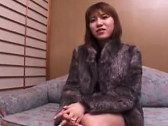 Cute Asian babe with perky boobs has her lips taking a cock