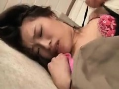 Attractive Japanese cutie has a horny guy licking her wonde