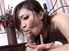 Rui Yazawa perky tits babe amazes with her cock sucking