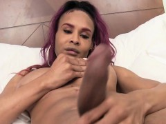Black Redhead Amateur Trans Pulling Cock Solo