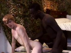 Interracial Twink Barebacked By Military Hunk