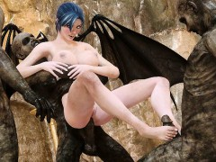3d Zombies Fuck A Busty Succubus!