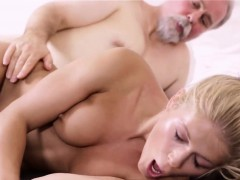 Lovely Young Babe Rides Jock Of An Old Guy And Then Licks It