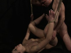 Spanked submissive gets banged and facialized