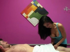 Super Masseuse Loves Her Job When Hung Man Is A Client