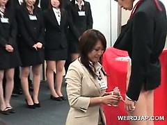 Teen japanese girl showing dick rubbing skills at sex