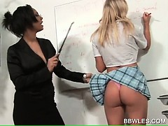 Kinky teacher ass spanking blonde lesbian