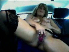 Girl Goes Crazy On Her Pussy In A Car