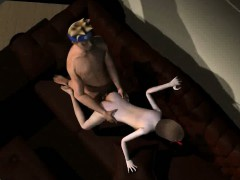3D cartoon brunette getting fucked hard by Naruto