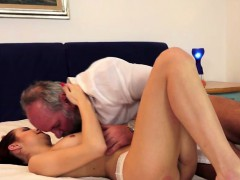 Old Hairy Perv Fucks Younger GF