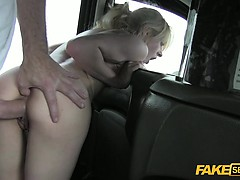 April gets a big and hard drivers dick