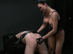 Bent over slave bdsm spanked