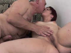 Chubby Redhead Stepdaughter Wakes Stepdad For Fucking