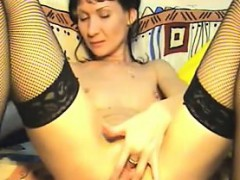 Slim Mature Whore Fingering Her Pussy