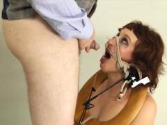 amazing BDSM toilet slut fucked anally hard