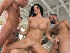 Aletta is handled by four big cocks