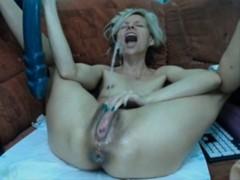 Huge dildo squirt that is huge
