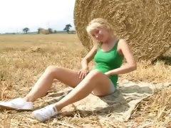 Masturbating in the field