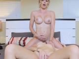 Lesbian babe Brooke gets fucked by hot and sexy stepmom