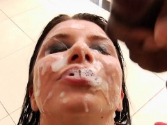 Group babe gets bukkaked