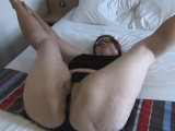 Hot french brunette sucking cock and fingering ass on webcam