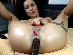 Anal fingering and hot masturbation
