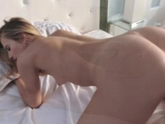 Hot blond Jillian Janson gets her pussy fondled and pounded