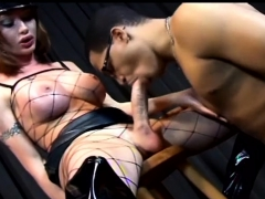 Italian Shemale Fetish With Anal Cumshot