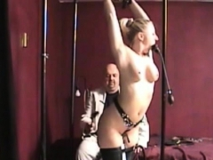Tightly Fastened Whore Gets Her Pussy Thoroughly Examined