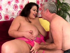 Asian Bbw And A Mature Guy Kiss With Each Other She Gets