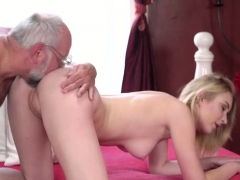 Koko Amaris plays strippoker with old guy and sucks him off
