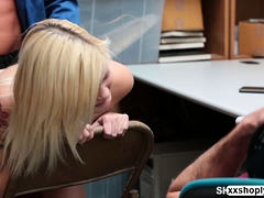 Shoplifter Teen Madison Hart Gets Fuck In Front Of Her Lover