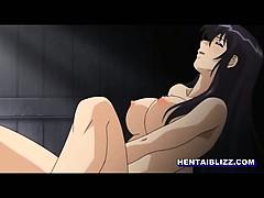 Japanese hentai maid self masturbating