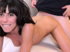 Hot milf Lexi exposes her cunt to make her man horny