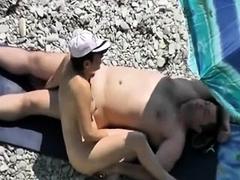 Beach voyeur mature couples have sex 1
