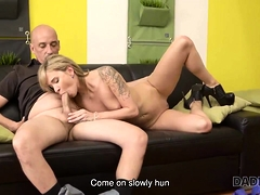 DADDY4K. Blonde cant control lustful wishes and has sex