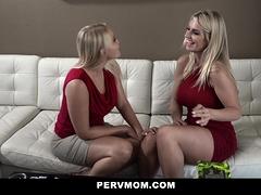 PervMom - Horny Teen and Hot Milf Suck Off Big Dick Stepbro
