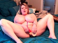 Horny Busty Chubby Milf Fucks Herself
